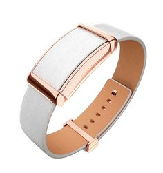 "Sona - Rose Gold & White Leather - Instead of a Fitbit... cuter and vibrates when HR too high, reminder to ""meditate"" (on scripture/pray). Would be cool to have a reminder a minimum of 5x throughout the day, too!"