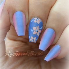 """""""January's Nails Challenge - Pantone colors 2016 Rose quartz & Serenity """" Photo taken by @miss.happy.and.her.nails on Instagram, pinned via the InstaPin iOS App! http://www.instapinapp.com (01/09/2016)"""