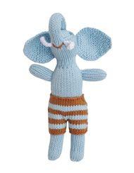 Blabla Blue Elephant Rattle