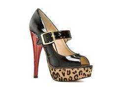 SM Women's Saassi Leopard Pump Peep Toes Pumps & Heels Women's Shoes - DSW