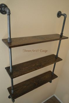 3 Tier Shelves Steampunk/Industrial Age Approx. Approx 36 Tall Approx 30 Wide Approx 8 Deep Approx 9 Distance between shelves To make shipping