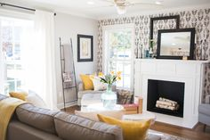 A bright and cheerful living room.