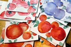 Martje. Painted cards