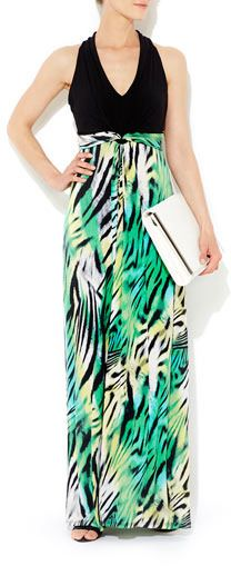 Wallis maxi dress green