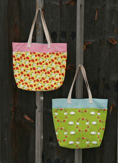 Fresh Lemons Quilts just posted this great, in-depth tutorial for these fun tote bags, using our brand new Locally Grown collection by Creative Thursday. We can't wait to make ours!