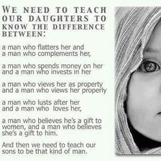 WE NEED TO TEACH OUR DAUGHTERS....