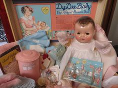 """Vintage Effanbee Dy-Dee Doll Bottle Card Set- VERY """"RARE"""" Complete Set from vintagedollbaby on Ruby Lane"""