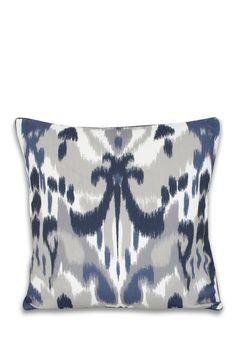 Ikat Pillow in  Indigo Blue.