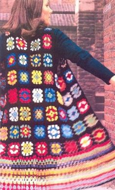 granny square jacket - I could so make that, but I know better than to wear it