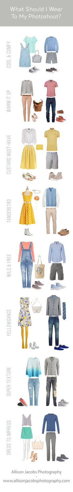 9 outfits for inspiration for what to wear for spring family photos.