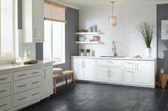 Black Brushed Limestone Tile - 8 x 32 - 100155555 Classic Kitchen, Limestone Tile, Kitchen Gallery, Countertop Materials, Home Trends, Floor Decor, Kitchen Flooring, Kitchen Design, Kitchen Colors