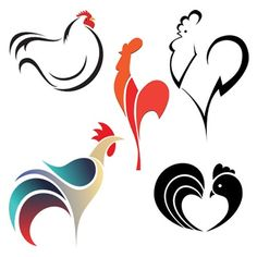 Rooster tattoo designs