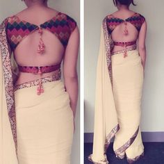 backless blouse designs with dori,backless blouse designs open backs backless blouse designs bridal fashion backless blouse designs indian outfits backless blouse designs saris backless blouse designs beautiful Saree Blouse Patterns, Sari Blouse Designs, Fancy Blouse Designs, Designer Blouse Patterns, Blouse Styles, Designer Dresses, Blouse Designs Wedding, Skirt Patterns, Coat Patterns