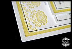 navy blue and yellow wedding invitations - Google Search