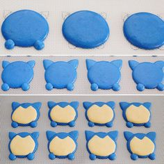 Character Macarons. The making of Snorlax. In Mississauga / Toronto