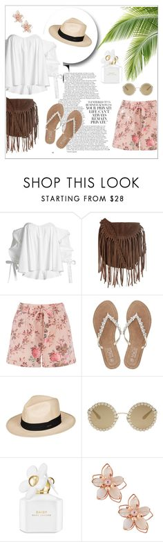 """Printed Summer Shorts"" by heart4style ❤ liked on Polyvore featuring Caroline Constas, Glamorous, M&Co, Roxy, Dolce&Gabbana, Marc Jacobs and NAKAMOL"