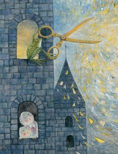 "Iku Dekune illustration for the book, ""The Water of Life""."