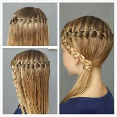 Waterfall braid hairstyle byestel