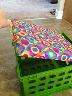 Fourth Grade Fab: Crate Seat Tutorial ~ Classroom Organization