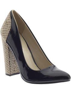 C-Label | black patent pumps heels shoes