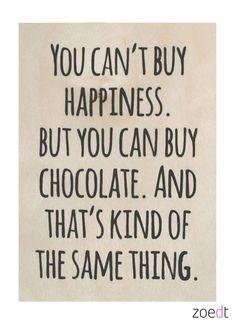 Zoedt Houten kaartje You can't buy happiness... - Zoedt