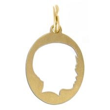 Send in a profile of a loved one and San Francisco based jewelry designer Vicente Agor will create a silhouette on the metal of your choice.