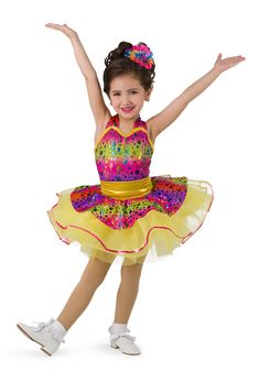 DANCE COSTUME TURQUOISE FOIL GIRLS TAP SKIRT SEQUIN TRIM LARGE CHILD PULL UP