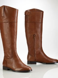 Jenessa Vachetta Riding Boot - Lauren Lauren Shoes - RalphLauren.com