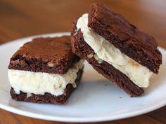Brownie Ice Cream Sandwiches!