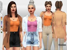 The Sims Resource: Parka Jacket by Pinkzombiecupcakes • Sims 4 Downloads