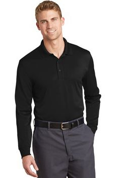 CORNERSTONE SELECT SNAG-PROOF LONG SLEEVE POLO. With long sleeves for more coverage, this work-ready, high-performance polo conquers snags, wrinkles, odors and moisture with ease. #longsleevepolo #apparel #promotional #businessattire