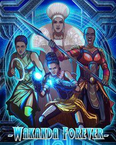 Look at the Queen glowing like an actual goddess 🙌 Women of Wakanda Shuri Black Panther, Black Panther Art, Black Panther Marvel, Black Art, Marvel Dc Comics, Marvel Heroes, Marvel Avengers, Comic Books Art, Comic Art