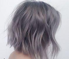 Resultado de imagen para purple gray hair