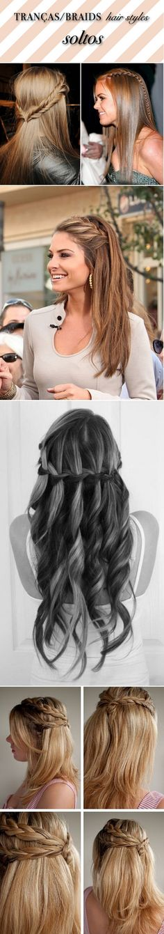 I adore braids like this now that my hair has gotten longer. Trendy Hairstyles, Braided Hairstyles, Hair Dos, My Hair, Braid Designs, Hair Hacks, Hair Inspiration, Beauty Hacks, Hair Makeup