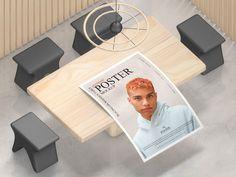 Free Interior Showcase Poster Mockup Design - Mockup Planet