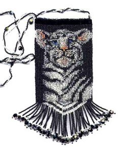 Baby Tiger Amulet Bag Beading Pattern and Kit. (Click on photo to go to this on our site). $27.95