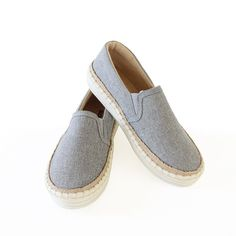 8fa0406072bf Super Soft Cushion Insole   Vamp Linen Upper Espadrille Flat Sneaker Grey
