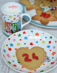 Simply-iced gingerbread biscuits make a fun alternative to a chocolate advent treats. Click through for the recipe!