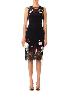 Buy Erdem Women's Black Kent Floral-lace Satin Dress, starting at $844. Similar products also available. SALE now on!