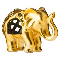 Love this gold elephant tealight holder by Nate Berkus for Target