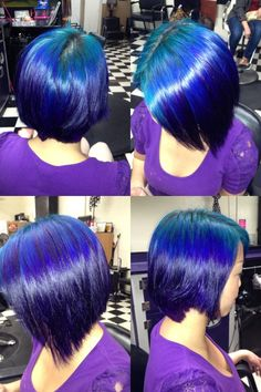 Turquiose, blue and purple hair @carolineelaine73