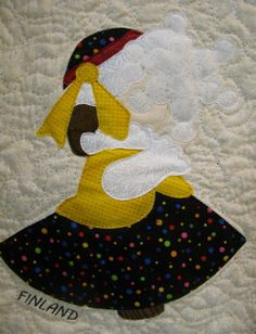 FINLAND Sunbonnet Sue by MooseStash Quilting. Design from International Sunbonnet Sue by Debra Kimball