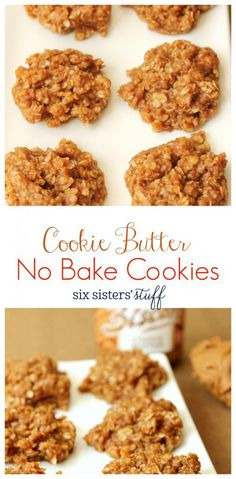 Cookie Butter No Bake Cookies from Six Sisters' Stuff | We are addicted to these No Bake Cookie Butter Cookies! It's like the most amazing cookie butter you can find. So delicious and so addicting!