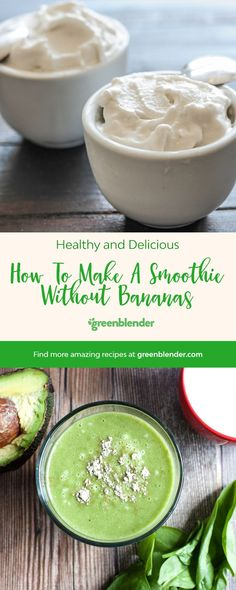 how to make a smoothie without bananas
