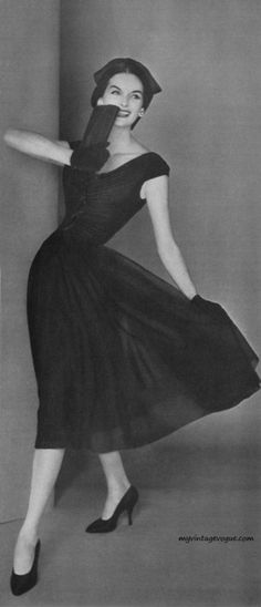 Vogue May 1956 - Anne St Marie Photo by Karen Radkai / Conde Nast Archive; Doesn't she look like Mary in Downton Abbey?