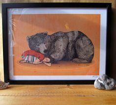 Huntress // A3 print by SandraDieckmann on Etsy, £19.00