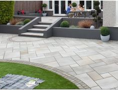 Buy Marshalls Fairstone Sawn Versuro Garden Paving from Turnbull, an ethically sourced large Sawn Indian sandstone paving slabs. Garden Slabs, Garden Paving, Patio Steps, Concrete Patios, Back Garden Design, Patio Design, Backyard Patio, Backyard Landscaping, Landscaping Ideas