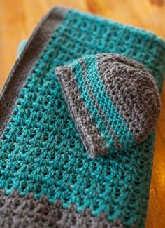 Free Pattern: Baby Blanket and Hat                                                                                                                                                                                 More