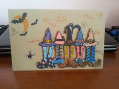 Halloween card, work in progress