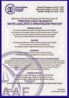 """Studio Legale Buonomo (Napoli / Caserta): Eventi formativi: """"Processo Civile Telematico: nov..."""